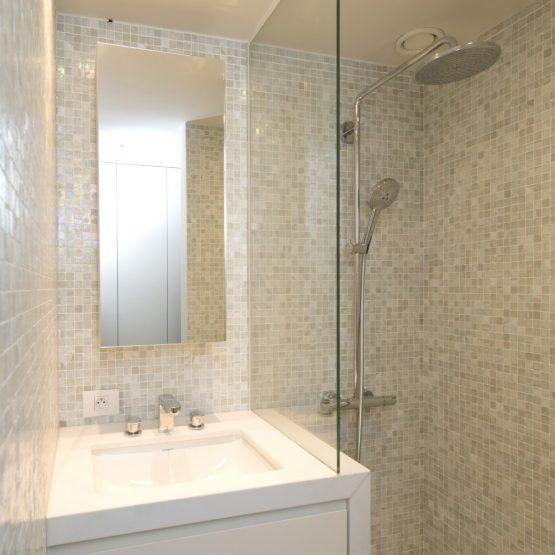 aneca klein douche spiegel