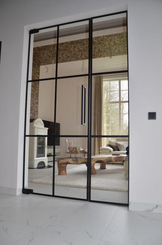steel look glazen deur